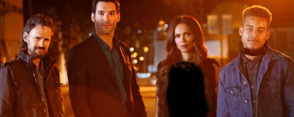 LUCIFER: L-R: Guest star Jeremy Davies, Tom Ellis, Lesley-Ann Brandt and Robert Richard in the ÒLucifer, Stay. Good DevilÓ episode of LUCIFER  airing Monday, Feb. 1 (9:00-10:00 PM ET/PT) on FOX. ©2016 Fox Broadcasting Co. CR: Bettina Strauss/FOX